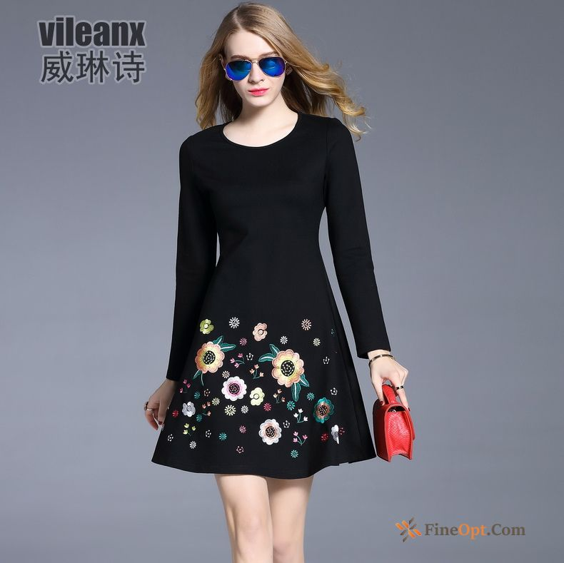 Long Sleeves Thin Fashion Autumn Spring Trend New Dress For Sale