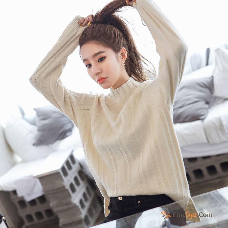 Loose Europe Thin Knitwear Sweater Sweater White New Sale