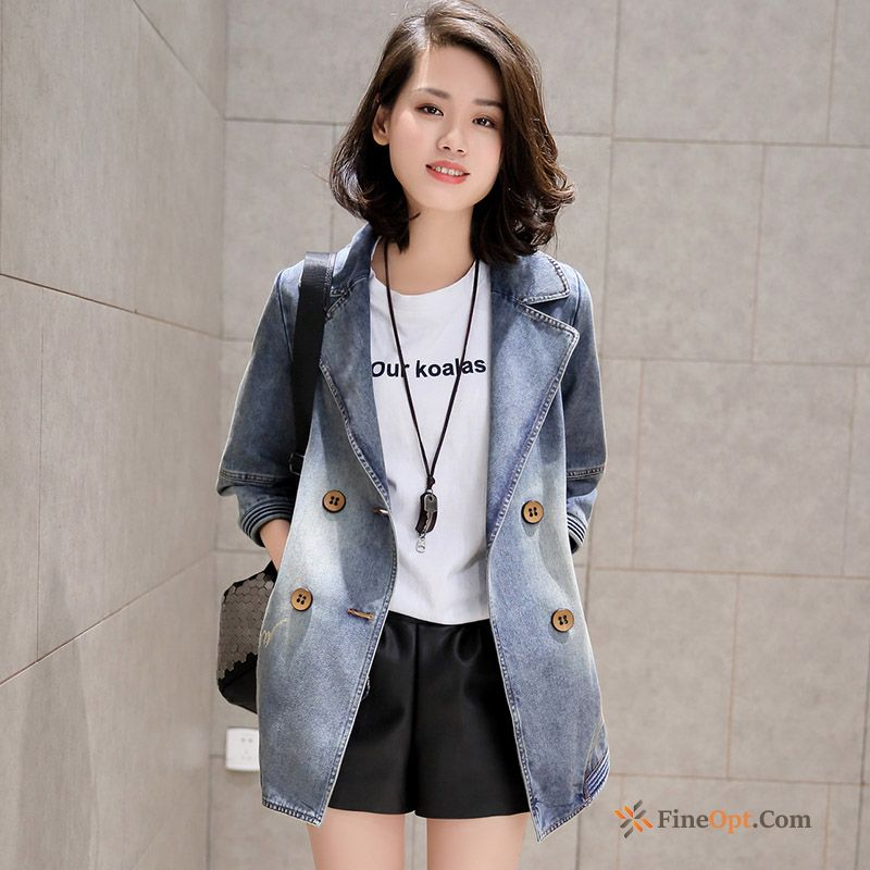 Loose Long Leisure All-match Europe New Coat Grey Black Jacket