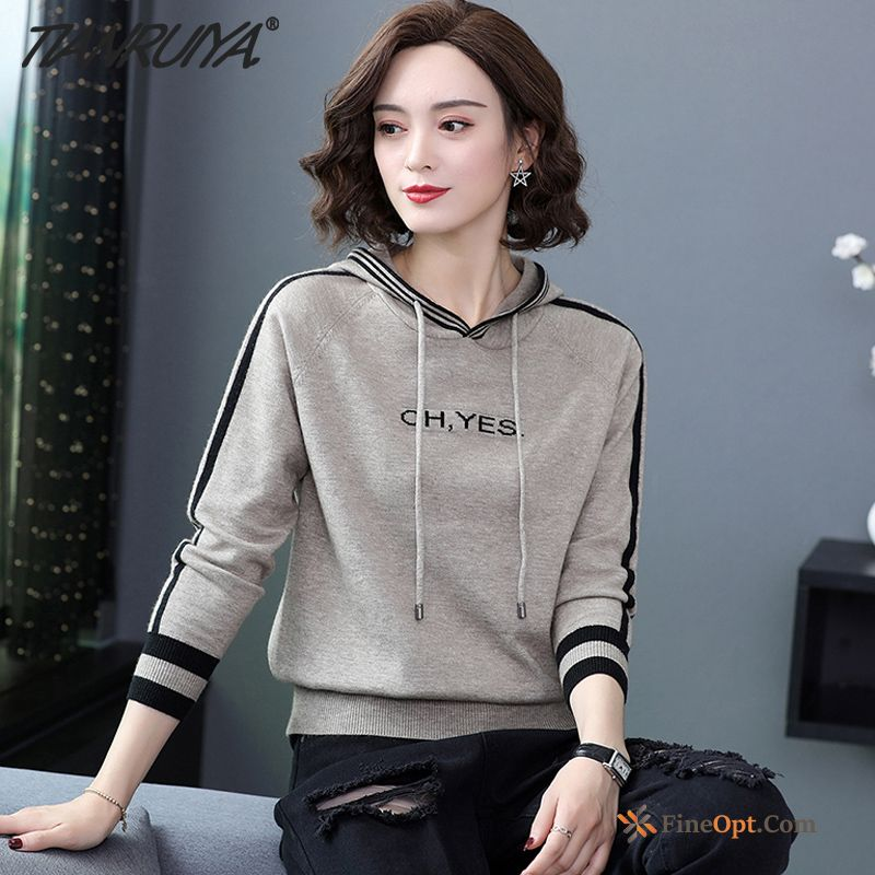 Loose Sweater Outwear Hoodies Long Sleeves Spring Autumn For Sale