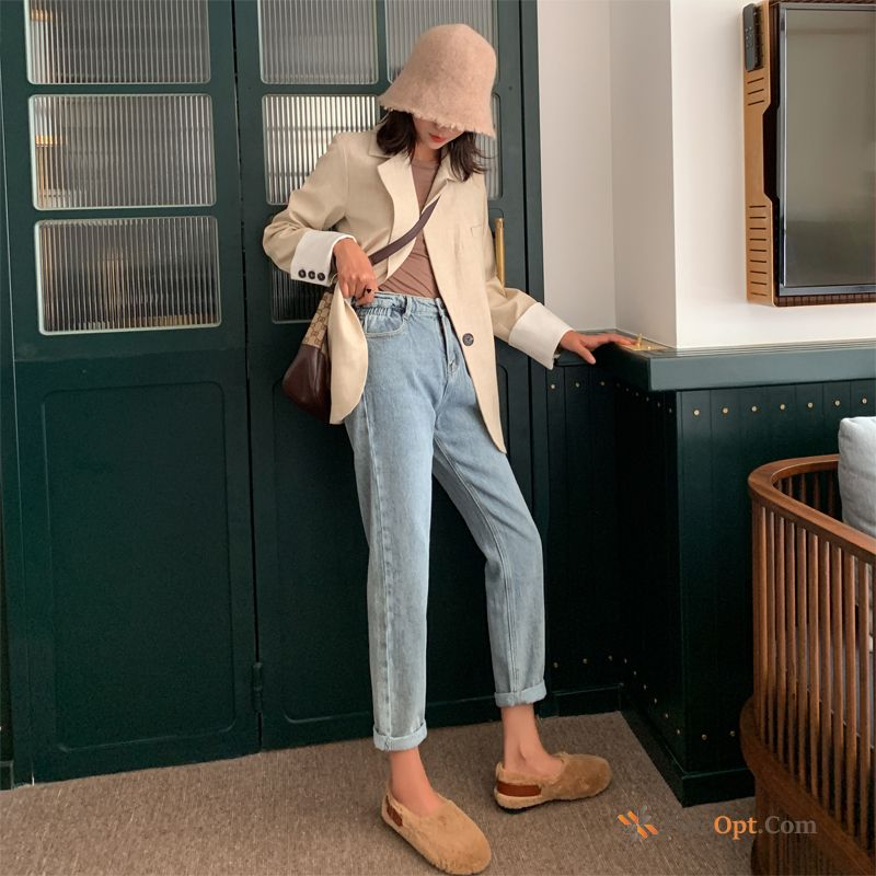 Loose Trend Autumn Thin Harlan Spring New Baby Pink Jeans