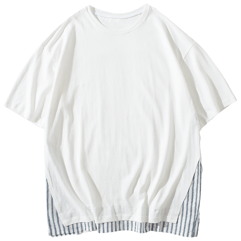 Loose White T-shirt Europe Student Round Neck Half Sleeve T-shirts