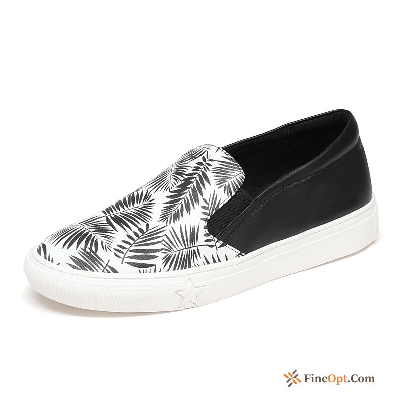 Lovers Graffiti New Red Spring Genuine Leather Trend Snow-white Loafers For Sale