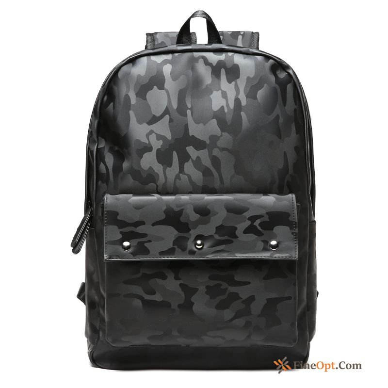 Men Trend Backpack Fashion High Capacity Laptop Bag Camouflage Backpack Online