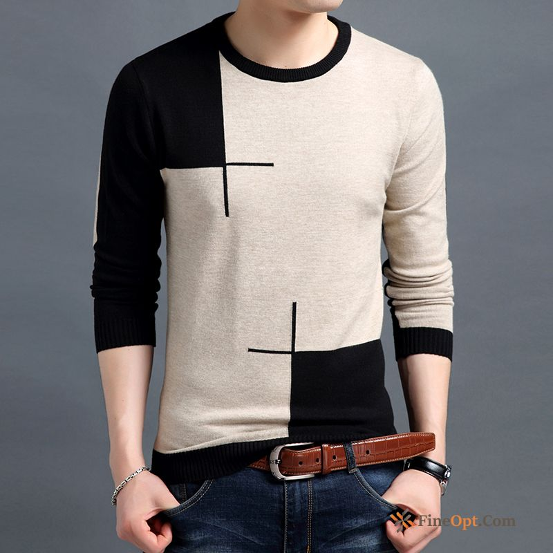 Men's Coat Europe Slim Spring Leisure Pullovers Sweater