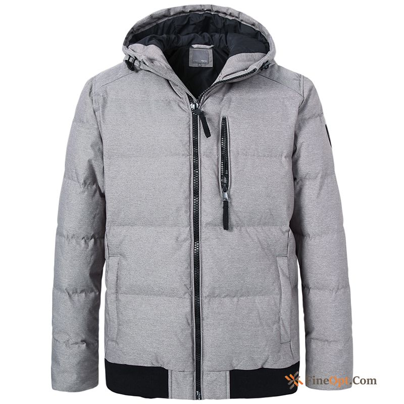 Men's Coat Student Trend Hooded Europe Down Jacket For Sale