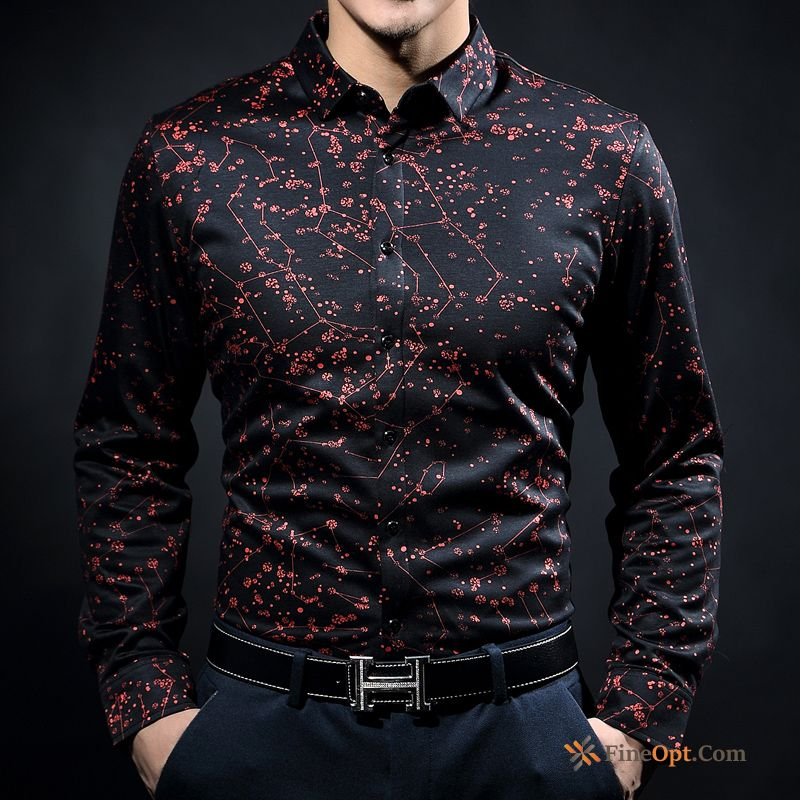 Men's Fashion Leisure Long Sleeves New Cotton Silk Shirts