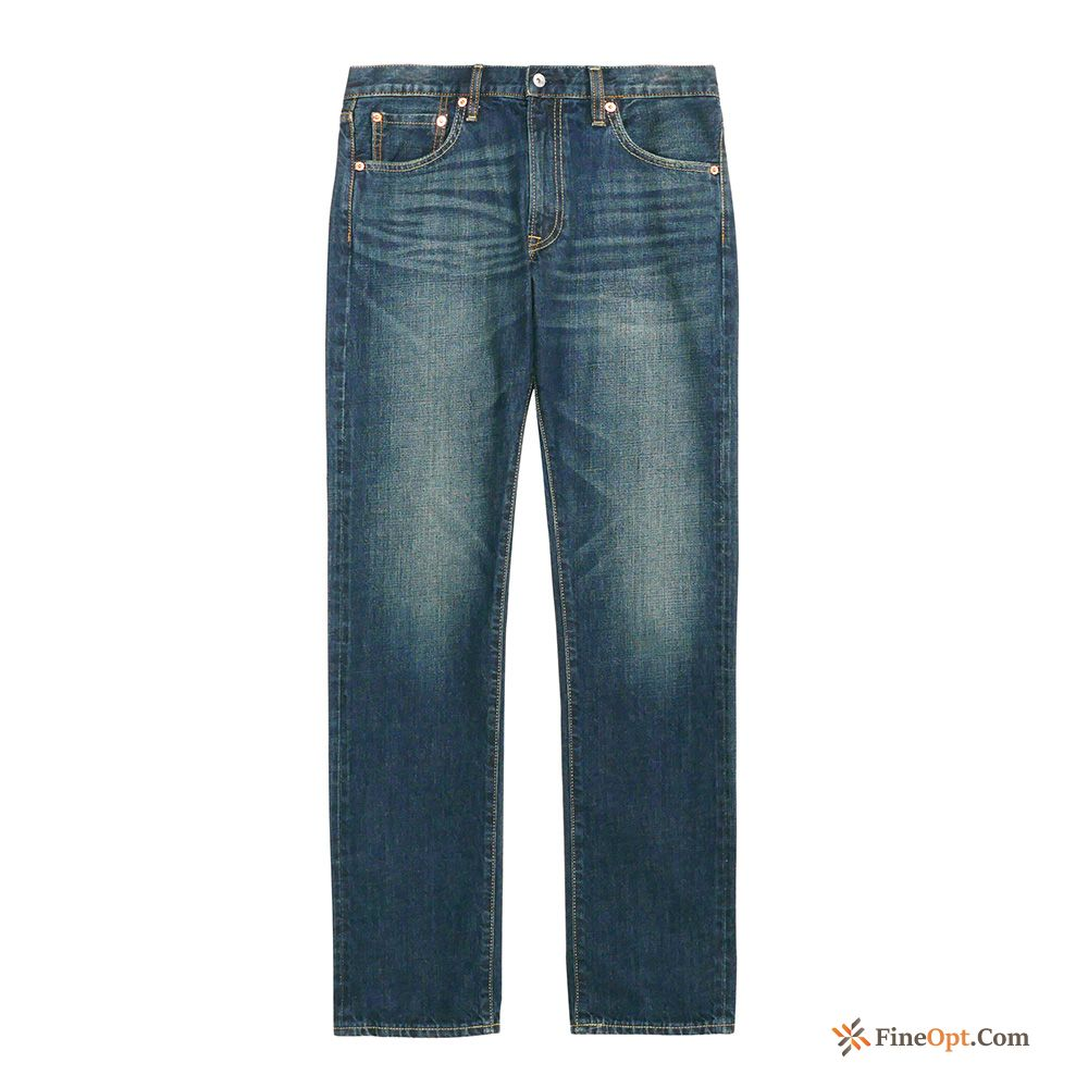 Men's Jeans Washing Classic Straight For Sale