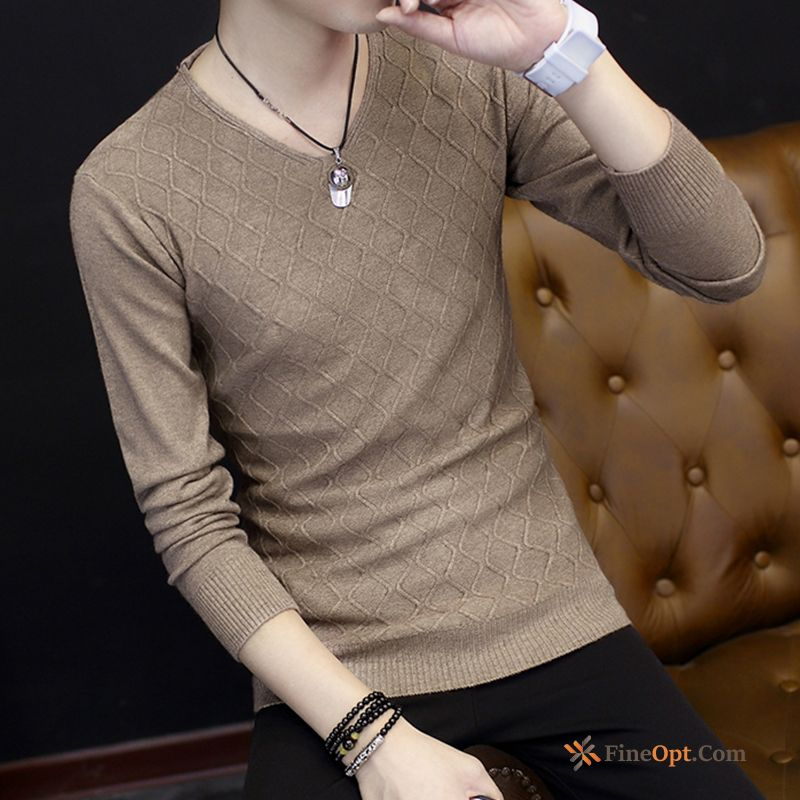 Men's Long Sleeves Spring Knitwear Sweater Bottoming Shirt Europe Autumn Sweater For Sale