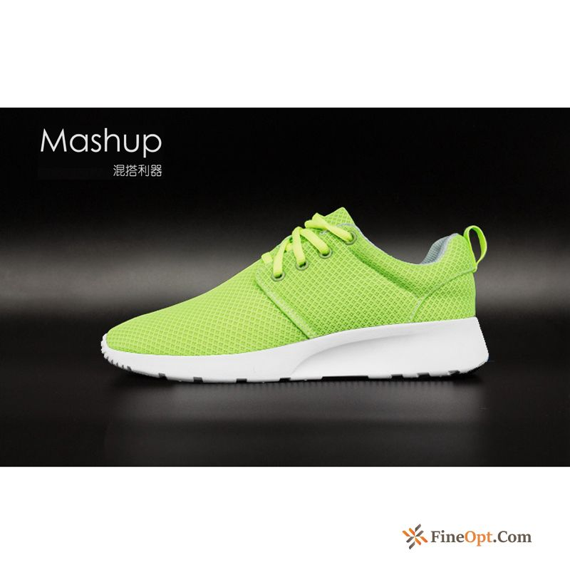 Men's Mesh Shoes Lace-up Net Light Casual Lovers Blue Green Running Shoes