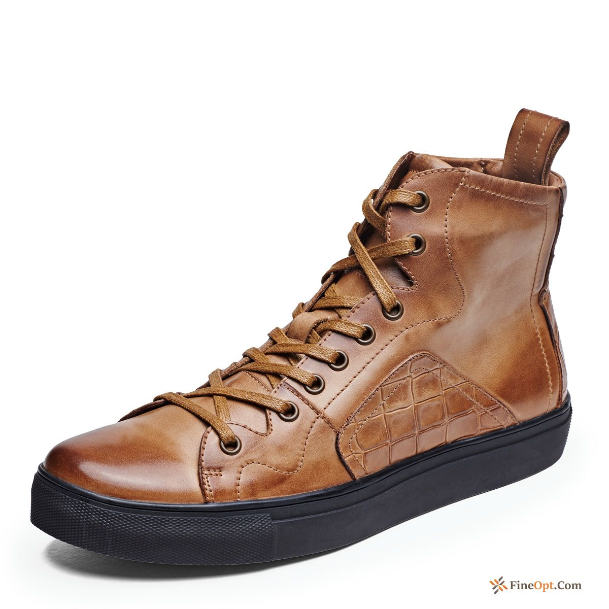 Men's Retro Short Boots Martin Boots Casual Leather Shoes British Boots