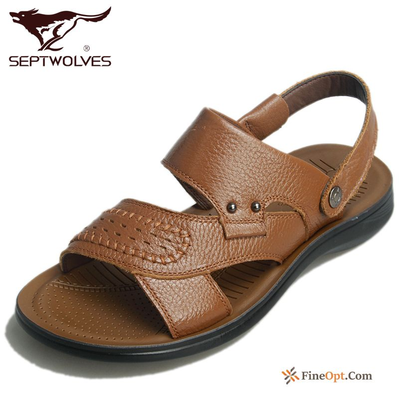 Men's Sandals New Anti-skid Beach Wear-resisting Summer Brown Sandals For Sale