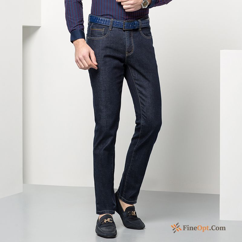 Men's Straight Leisure Jeans Fashion Wolf Spring