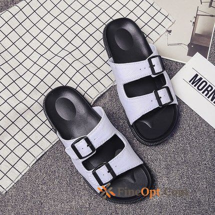 Men's Summer Casual Beach White Personality Trend Slippers Sale