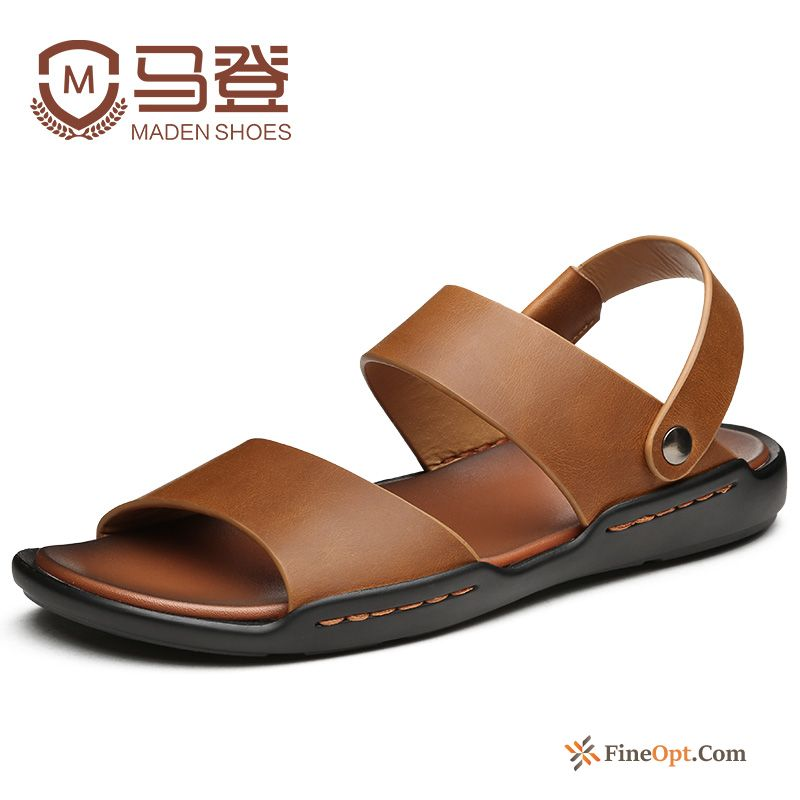 Men's Summer Causal Shoes Trend Anti-skid Genuine Leather New Sandals Online