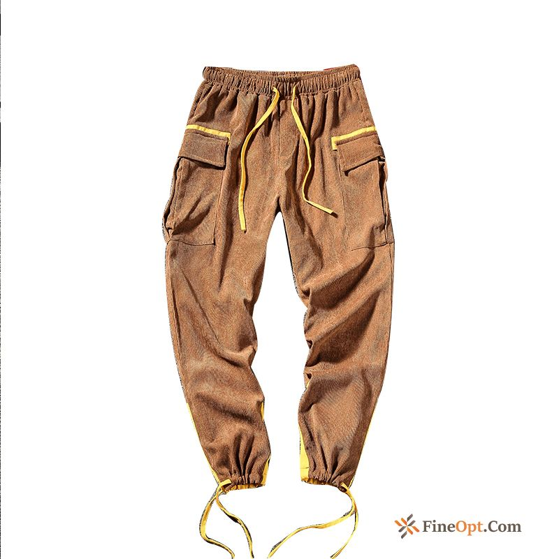 Men's Tight Corduroy Pants Harlan Leisure Loose Cargo Pants Online