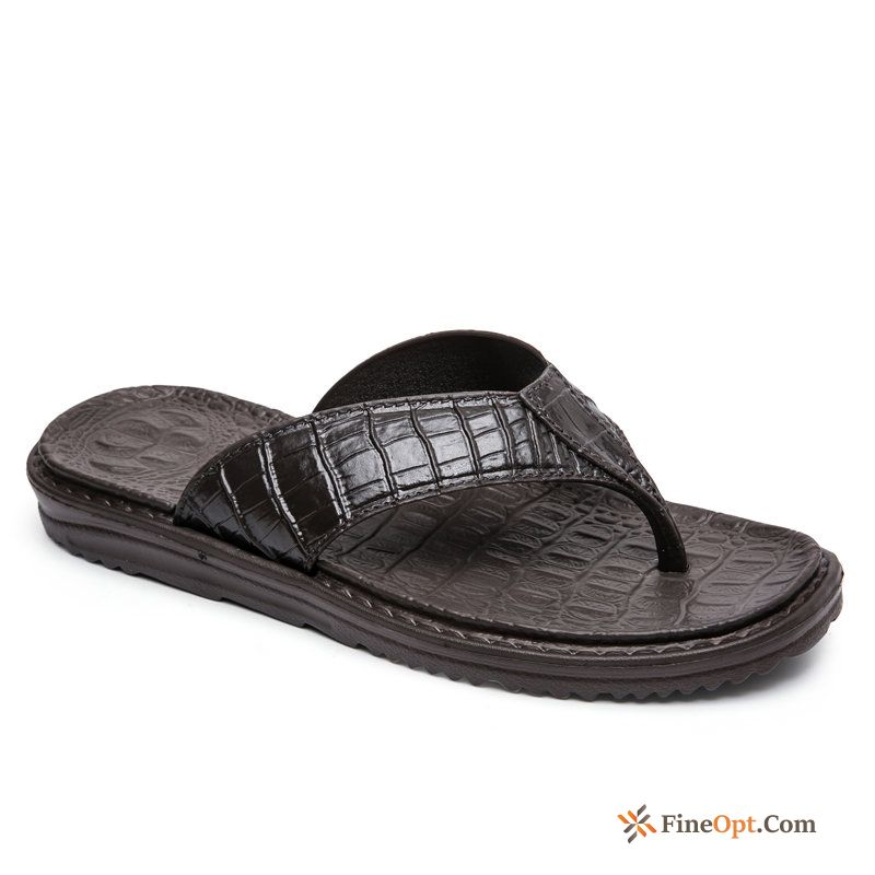 Men's Trend Slippers Personality New Crocodile Beach Flip Flops