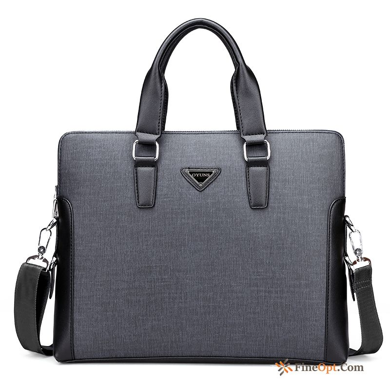 Messenger Bag Briefcase Cross Section Bags Leather Men's Business Handbag