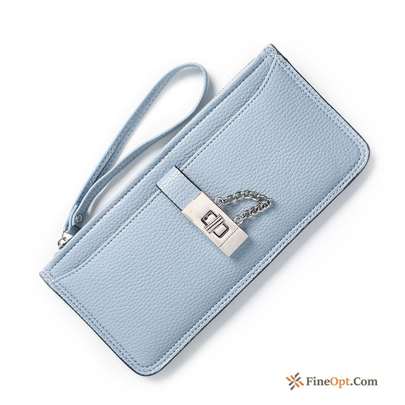 Multifunction Lock Catch Women New Long Section Thin Section Lichee Pattern Wallets