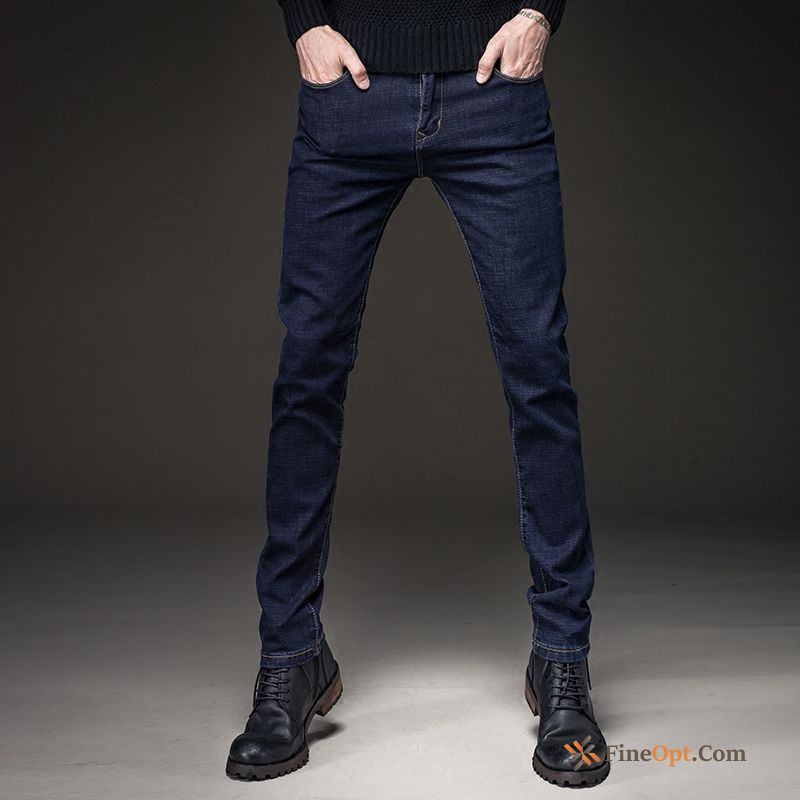 New Autumn Youth Jeans Trousers Men's Europe Maroon Online