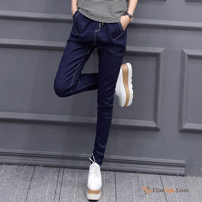 New Elasticity Spring Trousers Europe Jeans Tight