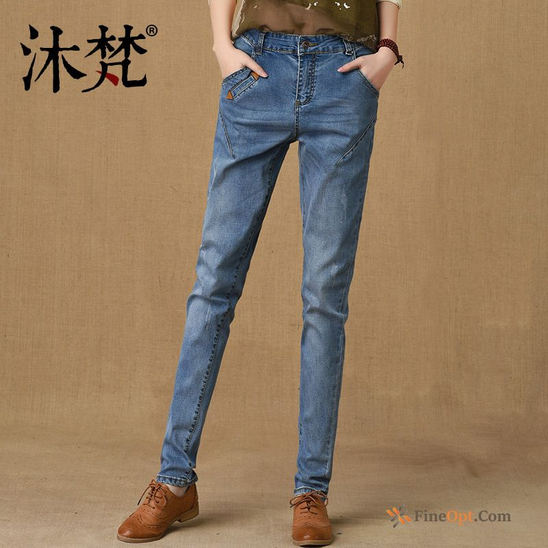New Harlan Pants All-match Trousers Lady Denim Salmon Jeans Online