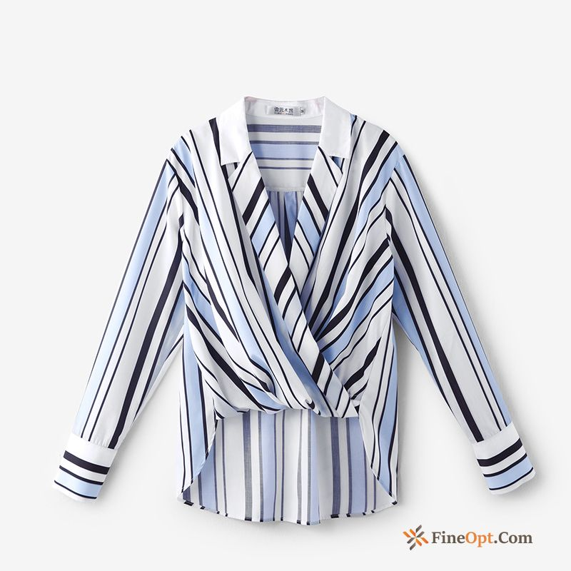 New Leisure Long Sleeves Spring Short Stripes Coat T-shirts Sale