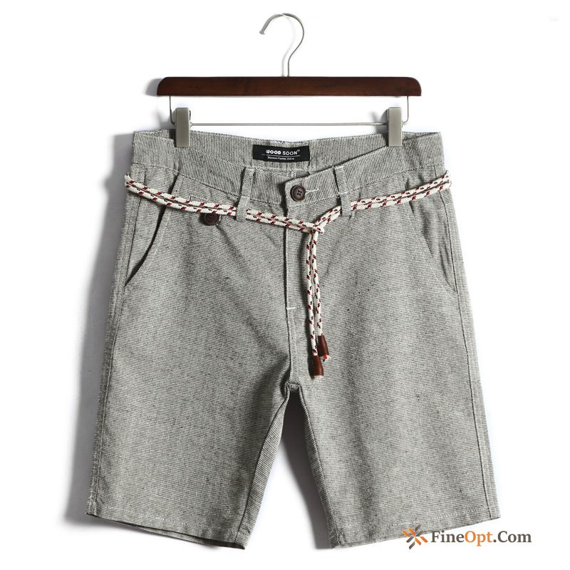 New Leisure Shorts Pants Pants Beach Slim Rosybrown Discount