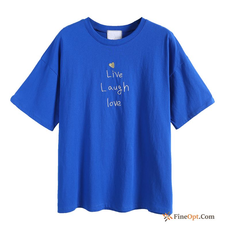 New Loose All-match Letter T-shirt Pure Cotton T-shirts