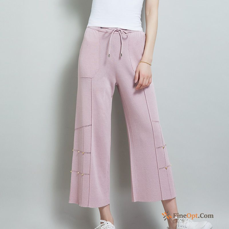 New Loose Black Pants All-match Ninth Pants Europe Misty Gray Pants