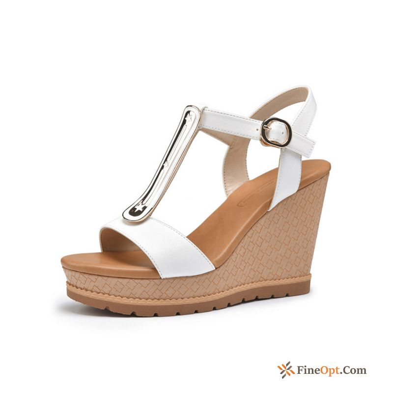 New Open Toe High Heels Sandals Ultra Wedges Spring Rubine Sandals
