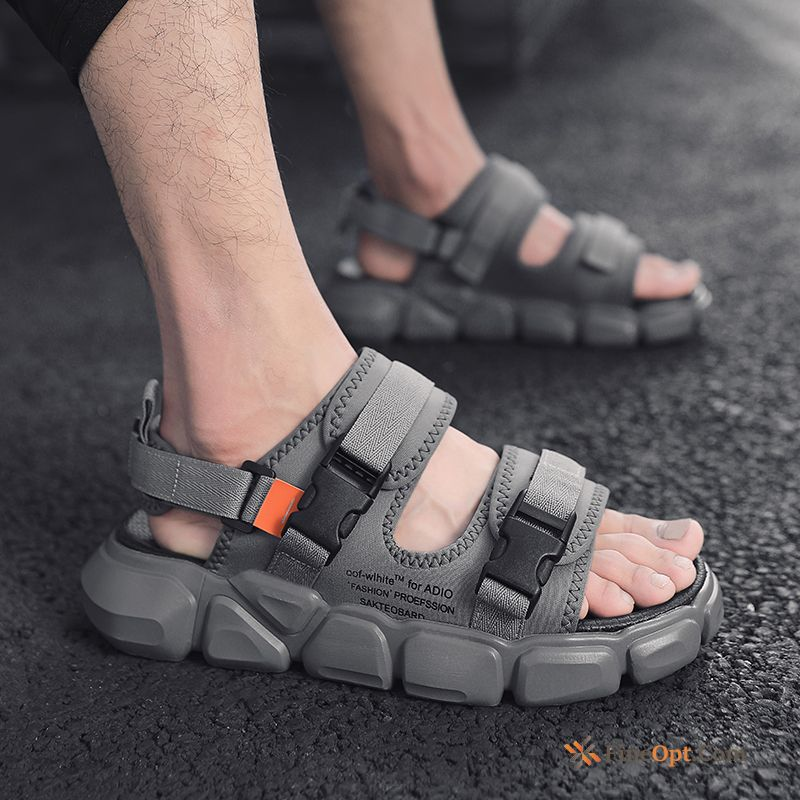 New Sandals Summer Outdoor Gray Slippers Anti-skid Sandals
