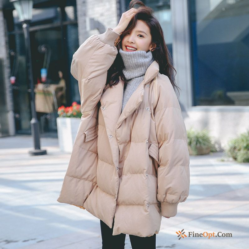 New Student Loose White Trend Cotton-padded Winter Cotton Coat