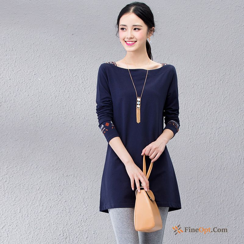 New T-shirt Spring Silk Loose Long Sleeves Bottoming Shirt T-shirts