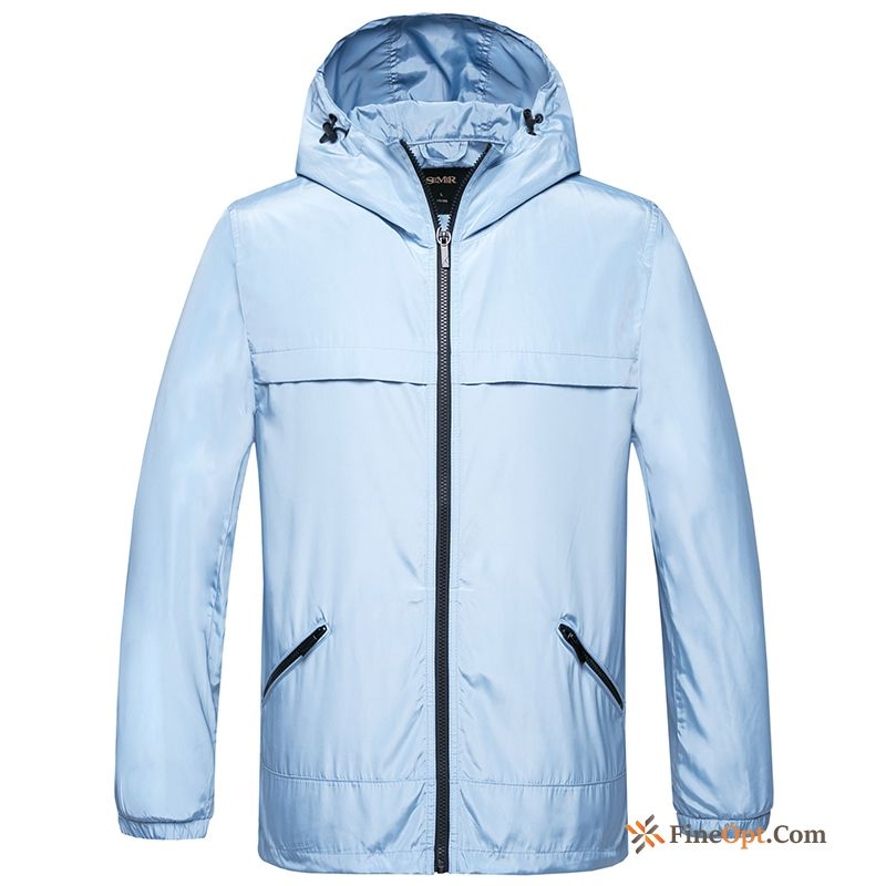 New Youth Hooded Spring Leisure Jacket Men's Jacket Discount