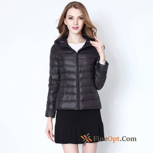 Outdoor Light Short Sport Large Size Hooded Spring Coffee Down Jacket Discount