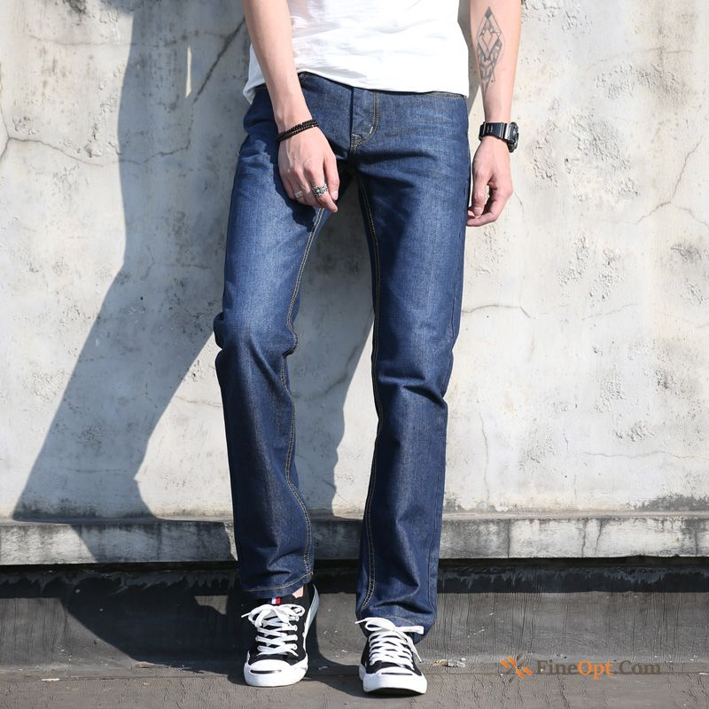 Pants Jeans Middle Waisted Trousers Men's Europe Leisure