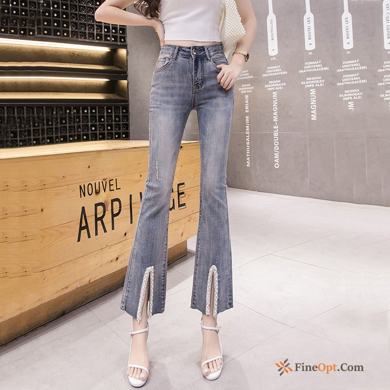Pants Light Temperament Elasticity Thin Jeans Slightly For Sale