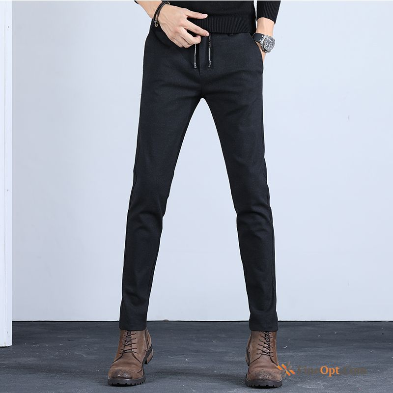Pants Trousers Elasticity Slim Leisure Spring Trend