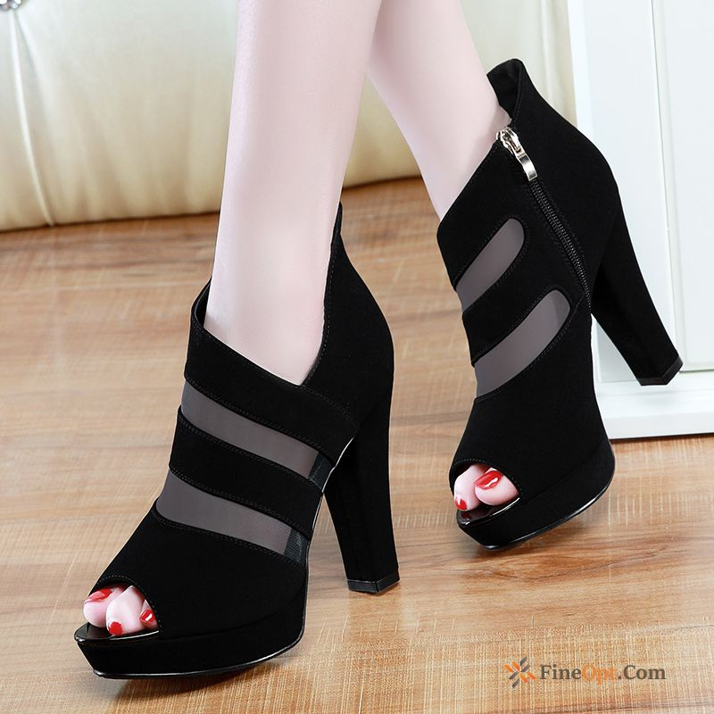 Peep-toe Summer New Sandals Thick Pumps Elegant