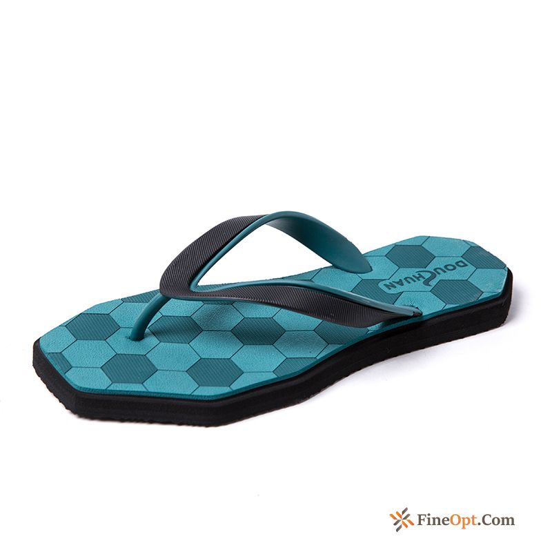 Personality Anti-skid Men's Fashion Blue Summer Slippers Flip Flops Online