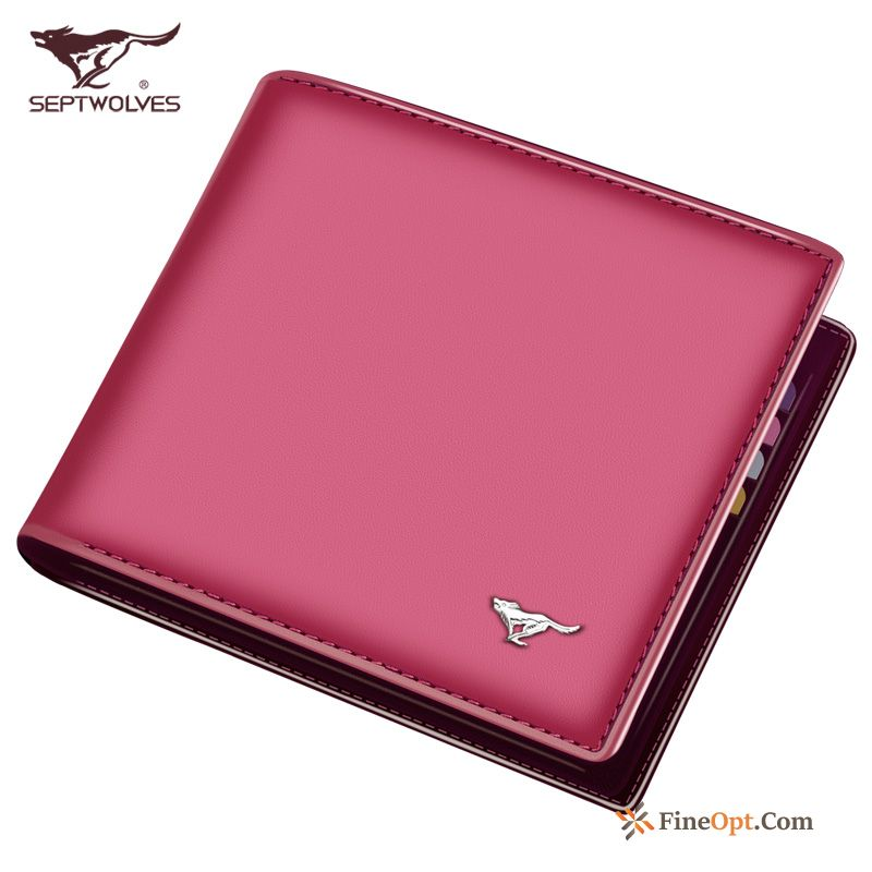 Pink Wallets Wallet Small Fashion High Capacity Genuine Leather Skyblue For Sale