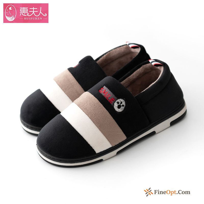 Plus Velvet Thermal Indoor Home Lovers Winter Cotton Shoes Slippers