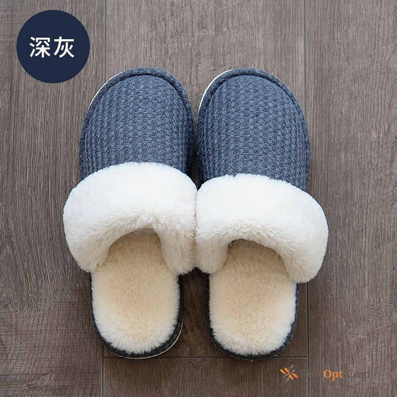 Plus Velvet Thermal Lovers Men's Deep Winter Slippers Slippers Online