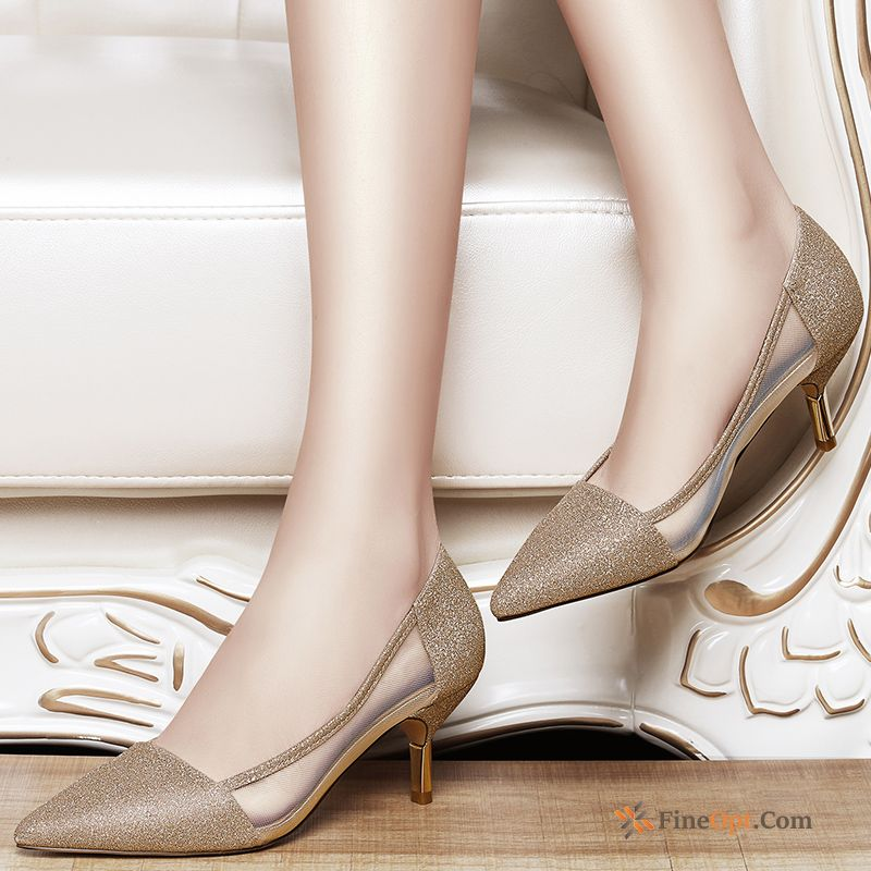 Pointed Toe Pumps New High Heels Trend All-match Spring