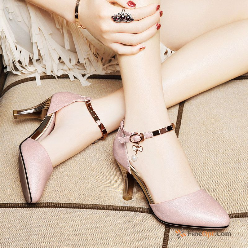 Pointed Toe Spring New High Heels All-match Sandals Thin Heels Sandals Online