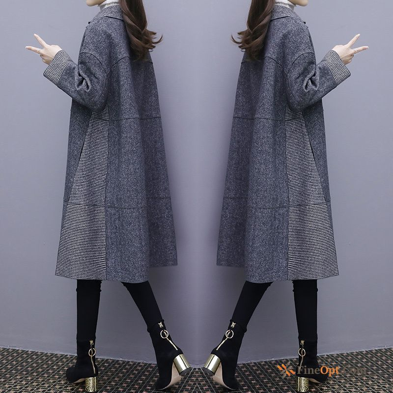Popular Overcoat Leisure Gray Europe Long Section Wollen Fabric Greenyellow Coat