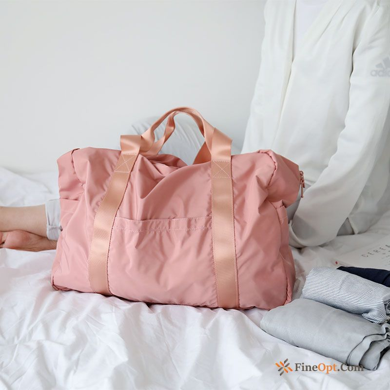 Portable Women Portable Fold Pink Shoulder Bags Men's Travel Bag