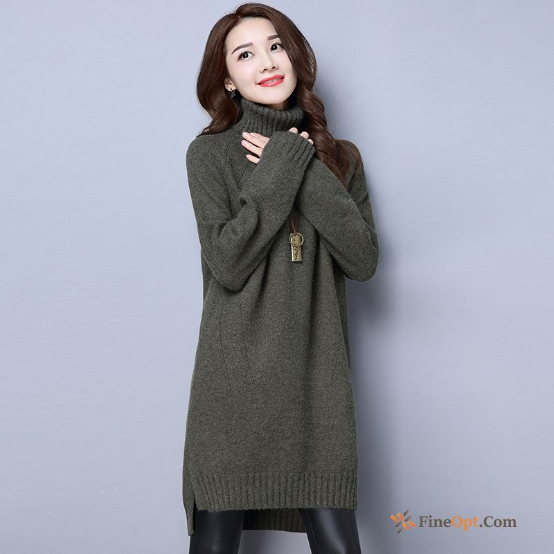 Pullovers Long Long Sleeves Winter Sweater Thickening Bottoming Shirt Dress For Sale