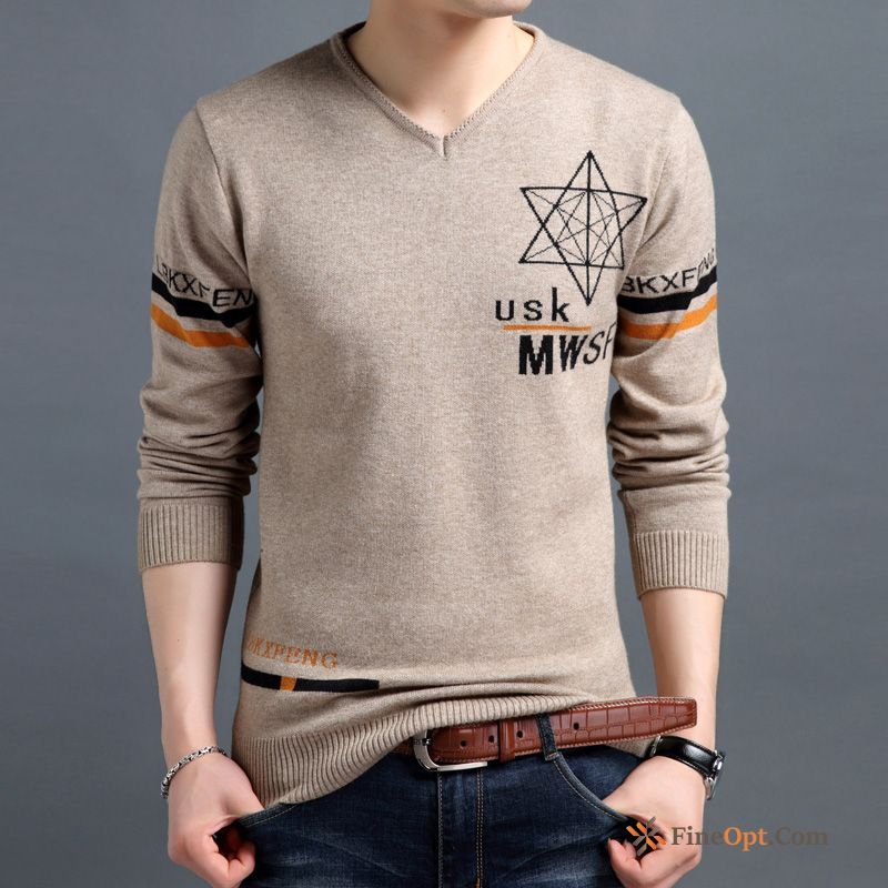 Pullovers Men's Spring Knitwear Sweater Flower Long Sleeves Europe Sienna Sweater For Sale